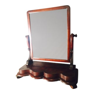 Antique Cherrywood Dresser Top Shaving Mirror