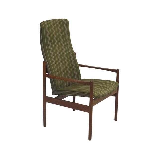 Mid-Century Danish Teak High-Back Lounge Chair - Image 1 of 9