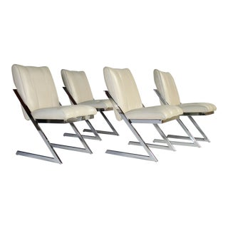 "Milo Baughman ""Z- Frame"" Dining Chairs - Set of 4"