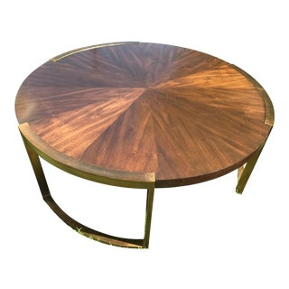 Stanley Furniture Crestaire Porter Round Autry Cocktail Table