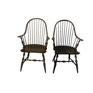 Black Windsor Armchairs - A Pair