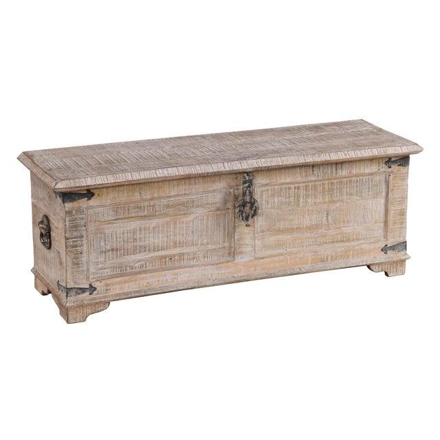 Kosas Home Hilton White Wash Mango Wood Half Chest Chairish