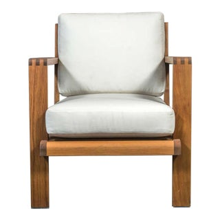French Teakwood Lounge Chair