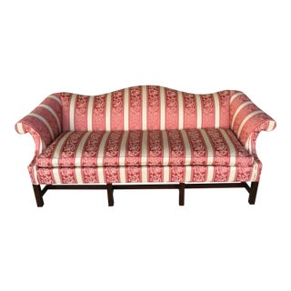 Hickory Chair Formal Camel Back Chippendale Style Sofa