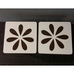 Image of Mid-Century White Formica Coffee Tables - Pair