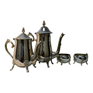 Silver Plated Coffee & Tea Set - 4 Pieces