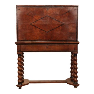 18th Century French Louis XIII Walnut Bargueno Desk