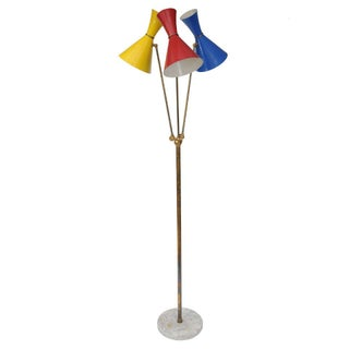 Stilnovo Italian Three-Light Floor Lamp