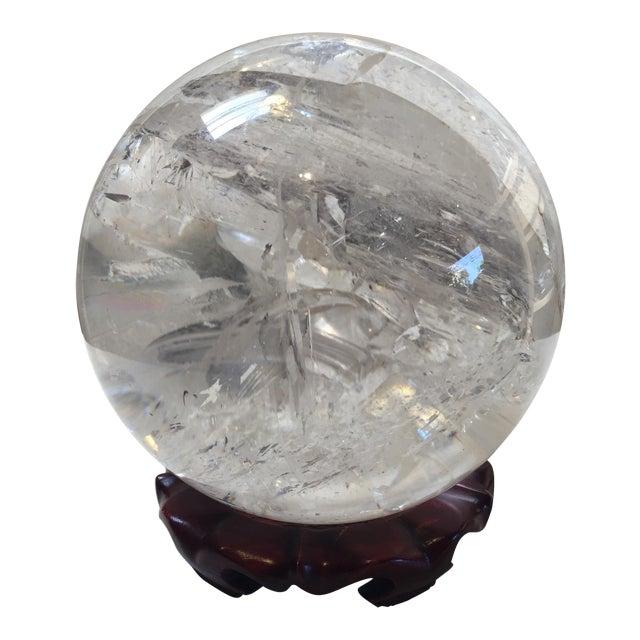 Extra Large Quartz Crystal Ball - Image 1 of 8