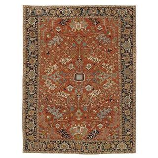 """Antique Heriz Carpet - 14'7"""" x 11'4"""""""