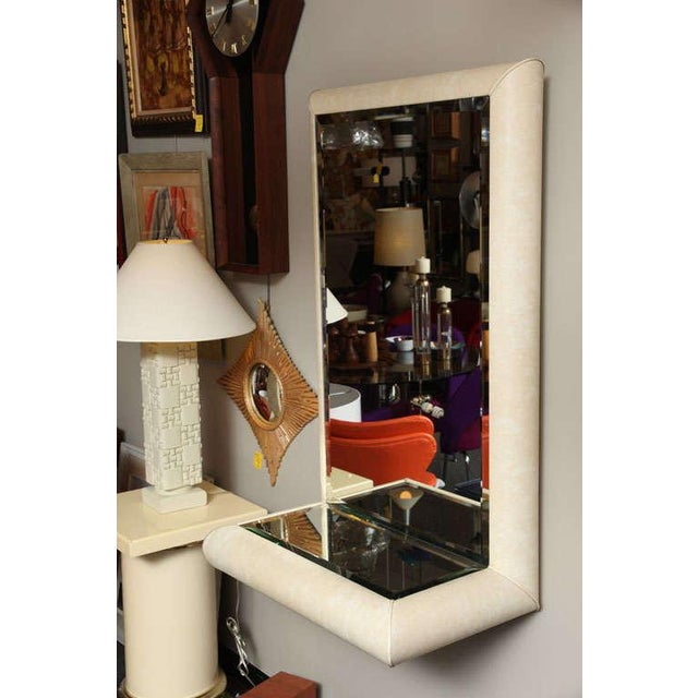 Springer Style Mirror Console in Faux Lizard by Jaru, California - Image 5 of 11