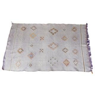 """Lavender Moroccan Cactus Silk Carpet - 3'1"""" x 4'12"""