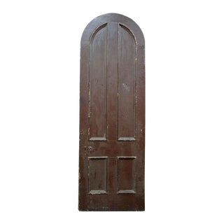 Antique Salvaged Arched Top Door