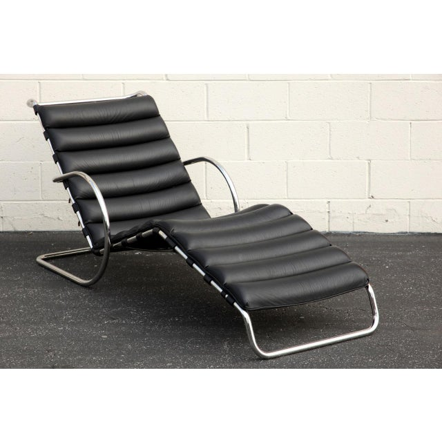Mies for knoll adjustable mr chaise lounge with arms for Mr adjustable chaise lounge