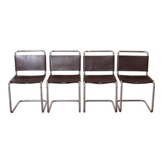 Set Four Original 1978 Invoiced Knoll Spoleto Side Chairs by Ufficio Tecnico