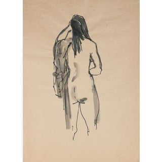 Draped Ink Wash Nude by R. Matteson