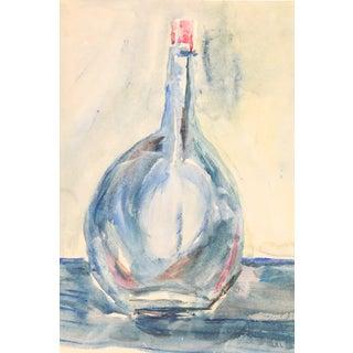 Blue Bottle Watercolor Painting by Kathryn Bernard