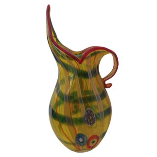 Murano Vase Pitcher With Murrhinea