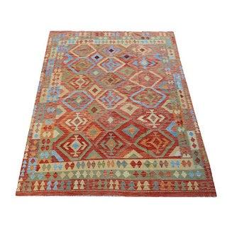 """Afghani Flatweave Kilim Handmade Tribal Rug - 6'6"""" X 9'5"""""""