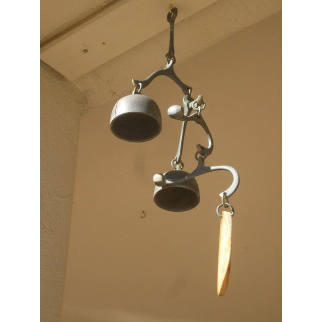 Image of Richard Fisher Signed Bronze Bell Wind Chime