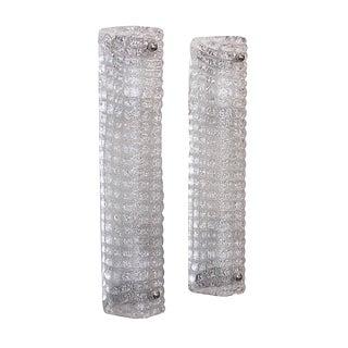 Pair of Thin Elongated Venetian Glass Sconces