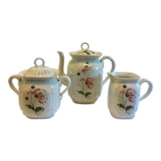 Vintage Porcelain 3-Piece Tea or Coffee Set