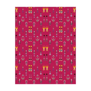 Voutsa Wallpaper - Earrings on Dark Pink
