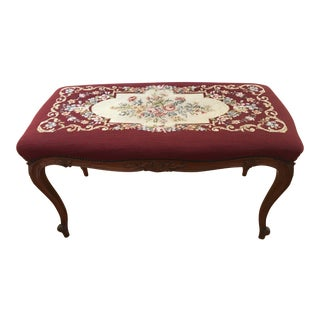 French Provincial Needlepoint Bench