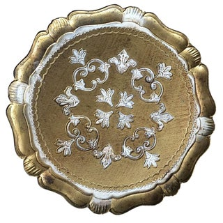 White & Gilt Florentine Tray