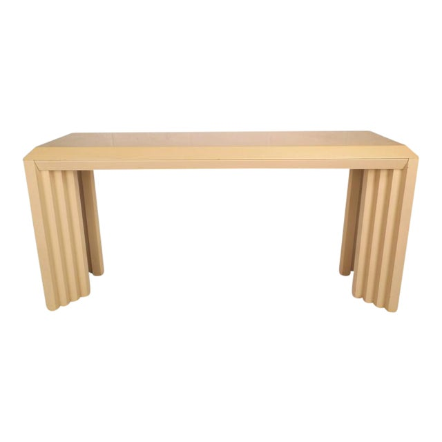 Mid-Century Modern Lacquered Console Table by Lane Furniture Company - Image 1 of 9