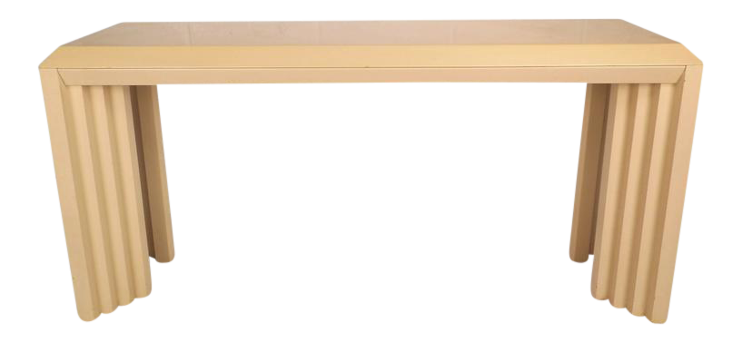 Mid Century Modern Lacquered Console Table By Lane Furniture Company