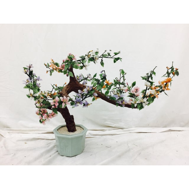 Vintage Mixed Stone Bonsai Tree Sculpture - Image 6 of 11