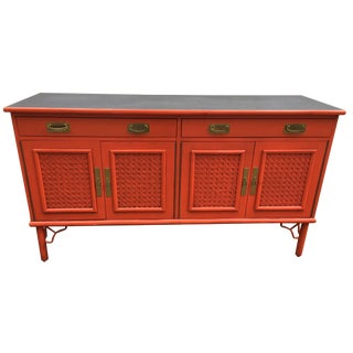 Ficks Reed Asian Style Fretwork Credenza
