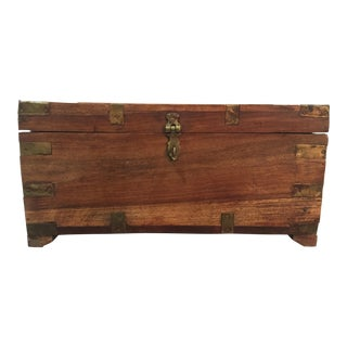 Brass Accented Wooden Box