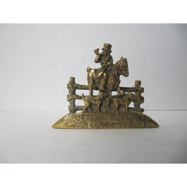 Brass Equestrian Letter Holder - Image 5 of 6