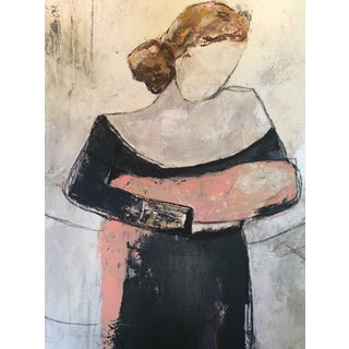 """Marie"" Original Mixed Media by Polly Spence"