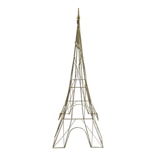 "Giant Eiffel Tower Sculpture Iron & Rare 46"" tall 18"" wide."