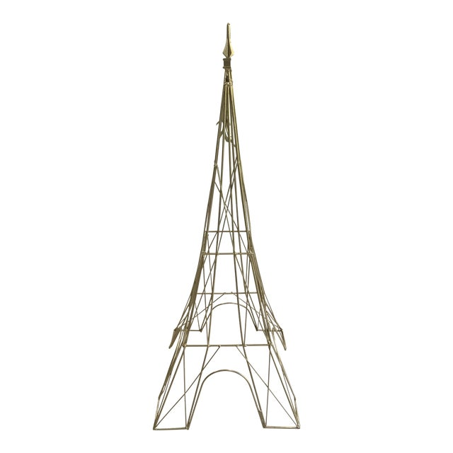 "Giant Eiffel Tower Sculpture Iron & Rare 46"" tall 18"" wide. - Image 1 of 11"