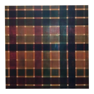 'MIX' Contemporary Plaid Painting