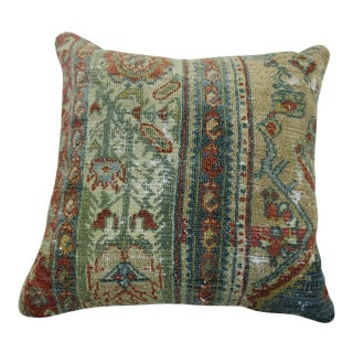 Shabby Chic Antique Persian Malayer Rug Pillow