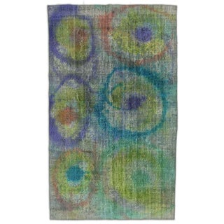 "Paintbox Multi Abstract Turkish Rug - 5'5"" x 9'2"""