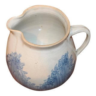 19th Century Unusual Spatter Ware Large Milk Pitcher