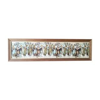 Mid-Century Framed Long Choir Singer Print