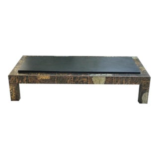 Paul Evans Slate & Metal Coffee Table