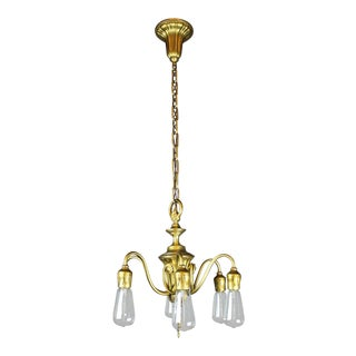 Adam's Style Bare Bulb, Six-Light Fixture by R. Williamson & Co.