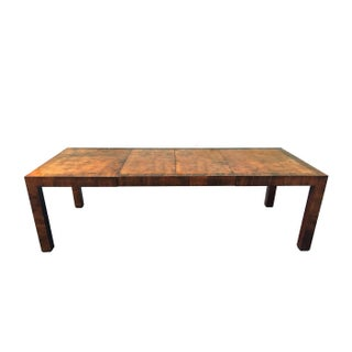 Hekman Gorgeous Burl Wood Parsons Dining Table