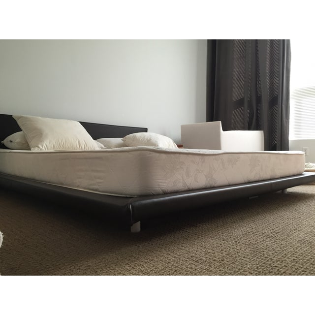 King Size Leather Platform Bed - Image 5 of 9