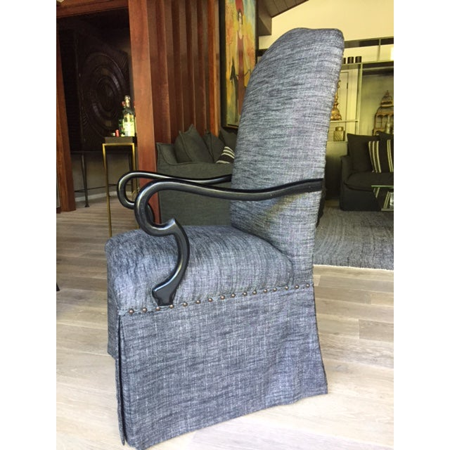 Gray Upholstered Dining Chairs - A Pair - Image 5 of 5