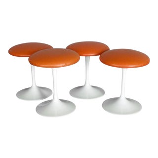 Set of Four Saarinen Style Tulip Swivel Stools