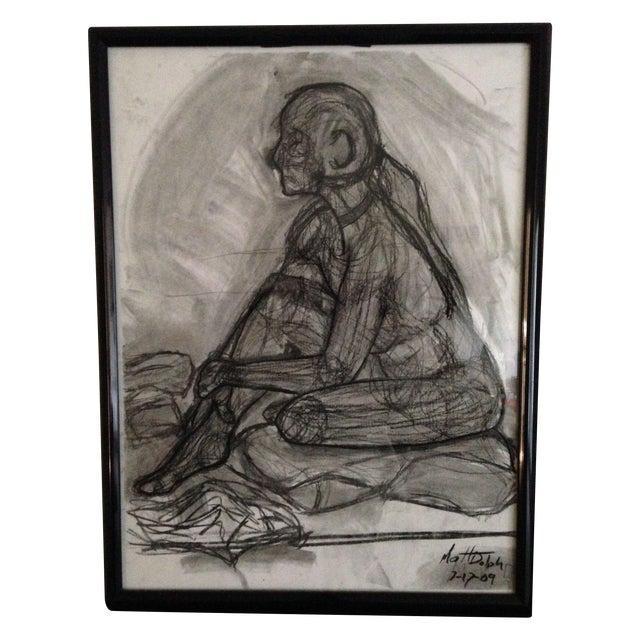 Image of Original Framed Charcoal Nude Sketch